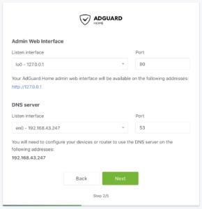 Adguard configuration